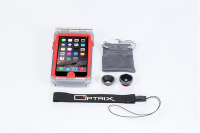 The ultimate action camera case for iPhone. (CNW Group/Optrix)