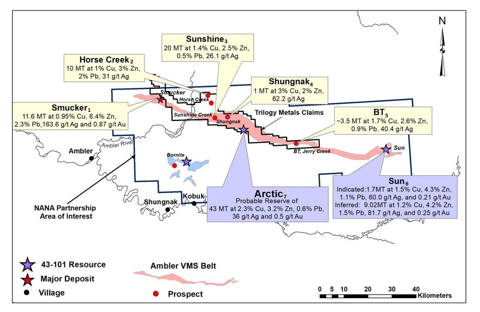 Figure 1. Location of Historic Resources at the Ambler VMS Belt