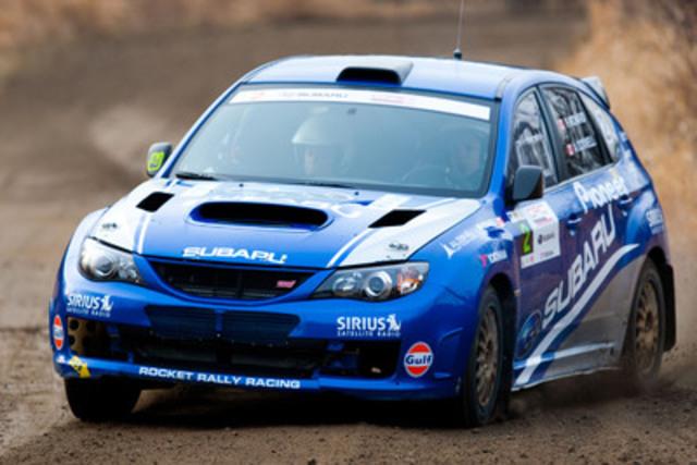 La sixième et dernière ronde du Championnat des rallyes canadiens, le Rallye Tall Pines, s'est tenue les 25 et 26 novembre à Bancroft, en Ontario. (Groupe CNW/Subaru Canada Inc.)
