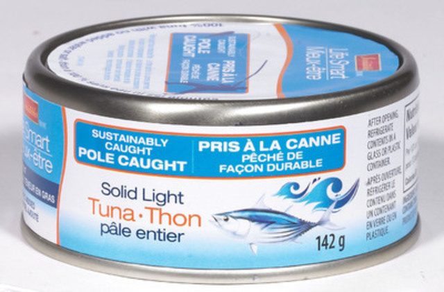 Metro's Irresistibles Life Smart pole caught canned tuna. (CNW Group/METRO INC.)