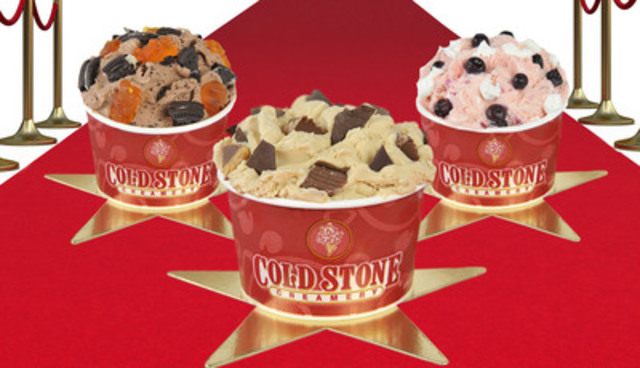 Cold Stone Creamery unveils Third Annual Oscar Signature Ice Cream Creations to celebrate the Oscars on February 24, 2013 (CNW Group/Cold Stone Creamery)