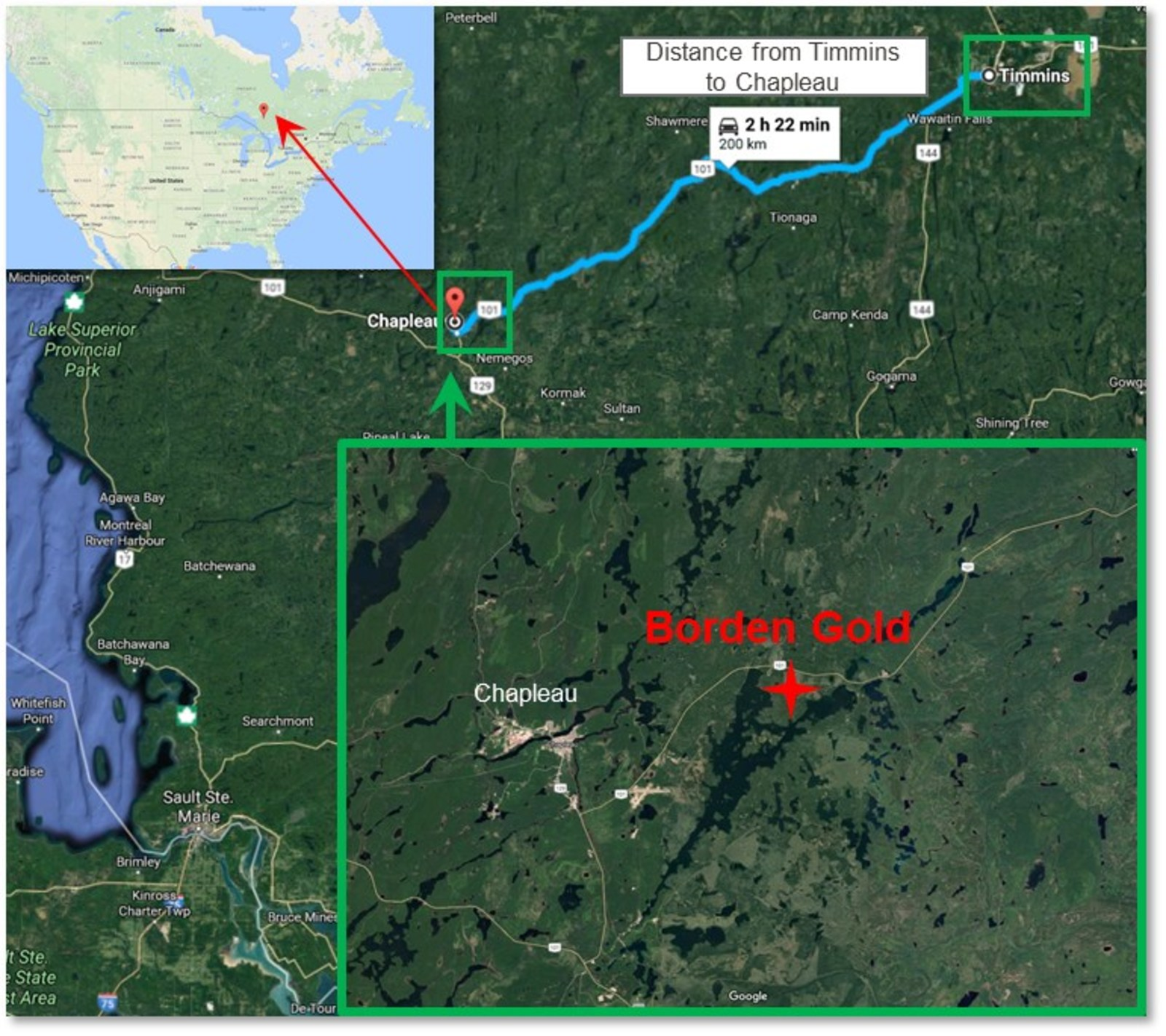 Figure 3: Geographic overview of Borden Site.