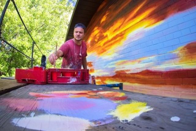 Cessez-le-feu, murale produite par MU et réalisée par Phillip Adams, 2016 (Groupe CNW/MU)