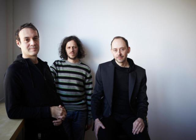 Audiotopie - Thierry Gauthier, Étienne Legast, Yannick Guéguen - Lauréats de la bourse Phyllis-Lambert Design Montréal 2013. (Groupe CNW/Ville de Montréal - Bureau du design)