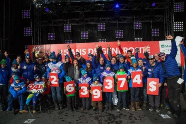 The organizers of Tremblant's 24h are thrilled to announce that the 15th edition of the event raised the record amount of $2,639,374. (CNW Group/Tremblant's 24h)