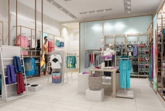 Bikini Village new store design, men's section (CNW Group/Bikini Village)