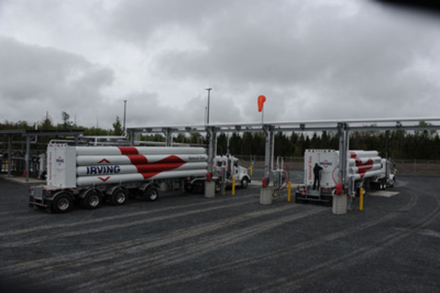 Irving Oil's natural gas compression station located in Lincoln, New Brunswick (CNW Group/Irving Oil Operations Ltd.)