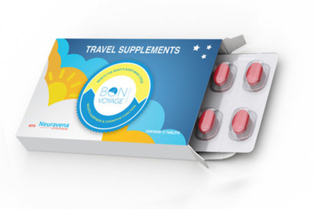 Preview of Bon Voyage Travel Supplements. Only 3 tablets a day are needed to end JetLag . (CNW Group/Bon Voyage Supplements Inc)