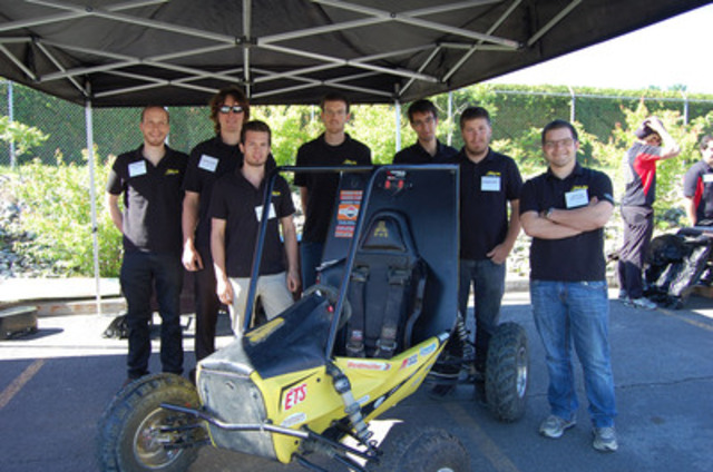 BRP hosted yesterday the Baja SAE, an intercollegiate design competition whereby teams of students design and build off-road vehicles, between seven teams from Québec and Ontario universities. The winning team from l'École de technologie supérieure in Montréal, pictured here, received a $4,000 sponsorship in BRP parts. (CNW Group/BRP)