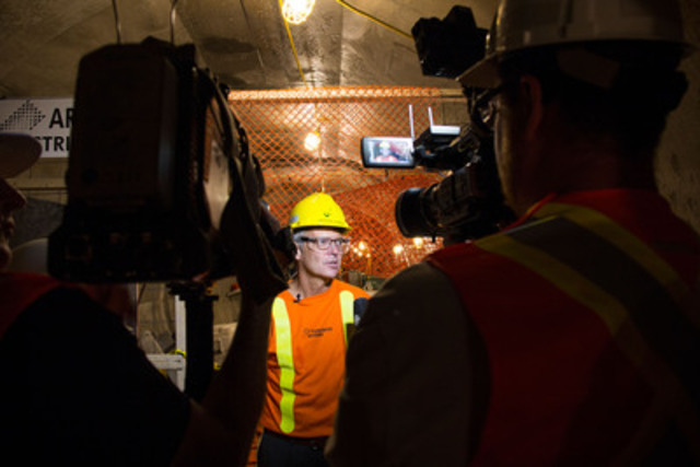 Toronto Hydro President and CEO, Anthony Haines, inside Copeland Station tunnel (CNW Group/Toronto Hydro Corporation)