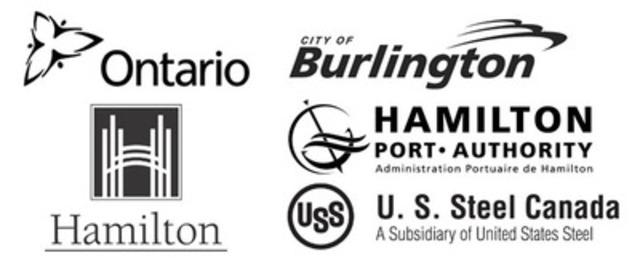 Gouvernement de l'Ontario, Ville de Burlington, Ville de Hamilton, Administration portuaire de Hamilton, U.S. Steel Canada Inc. (Groupe CNW/Environnement Canada)