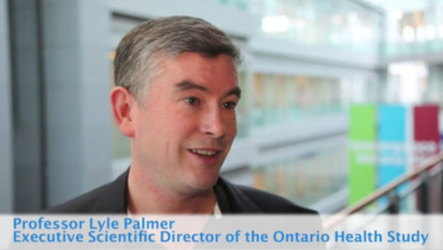 Video: Professor Lyle Palmer, Executive Scientific Director of the Ontario Health Study, on the future of the Study