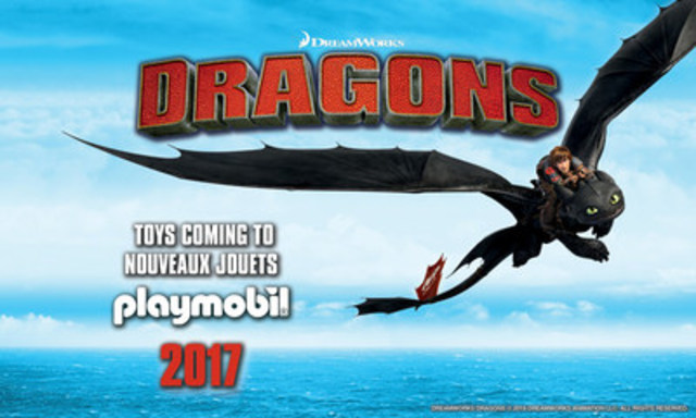 "High-Flying PLAYMOBIL Adventures with ""How To Train Your Dragon"" Playsets (CNW Group/PLAYMOBIL CANADA)"