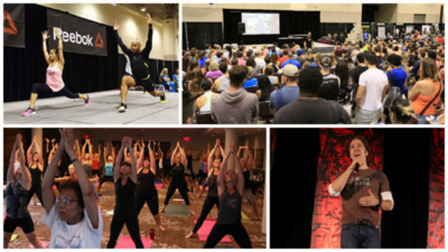 The 2016 canfitpro world fitness expo took place August 10-14 and provided fitness professionals, business owners, and consumers with the opportunity to learn from industry experts, work out and meet fitness celebrities, and access hundreds of show specials in the expo hall on fitness and wellness products and services. Craig Kielburger, WE Day co-founder, rounded out the event with an inspirational message on how we can all play a part in giving the gift of education to children around the world. (CNW Group/Canadian Fitness Professionals Inc. (canfitpro))