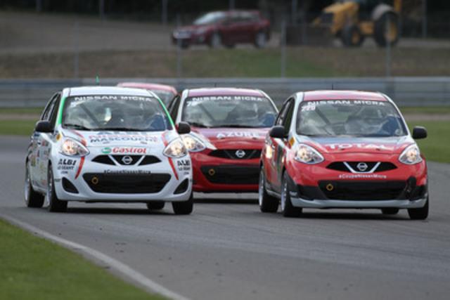 Après des débuts exceptionnels au Mont-Tremblant, les pilotes de la Coupe Nissan Micra promettent aux spectateurs du Grand Prix du Canada deux courses spectaculaires ! (Groupe CNW/Nissan Canada Inc.)