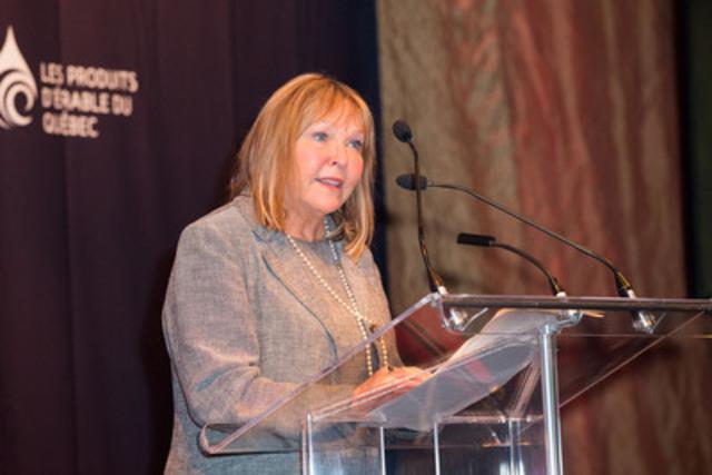 Maryse Lassonde, Directrice scientifique du Fonds de recherche du Québec-nature et technologies. (Groupe CNW/Fédération des producteurs acéricoles du Québec)