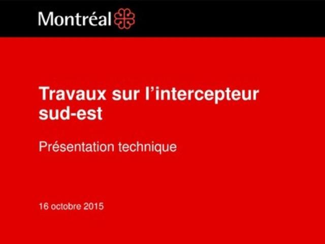 Annexe 1: Présentation technique (Groupe CNW/Ville de Montréal - Cabinet du maire et du comité exécutif)