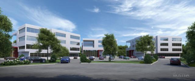 Ce projet initié par Luc Papin et Ray Junior Courtemanche offre à Mirabel ses premières tours de bureaux. Totalisant 100 000 pieds carrés de superficie, les trois immeubles de 4 étages accueilleront dès juillet 2014 des professionnels qui bénéficieront d'une architecture ultramoderne, d'un emplacement extrêmement stratégique (sortie 28 de l'autoroute 15) et de l'essor commercial et résidentiel que connaît Mirabel. (Groupe CNW/Le groupe CIBS)
