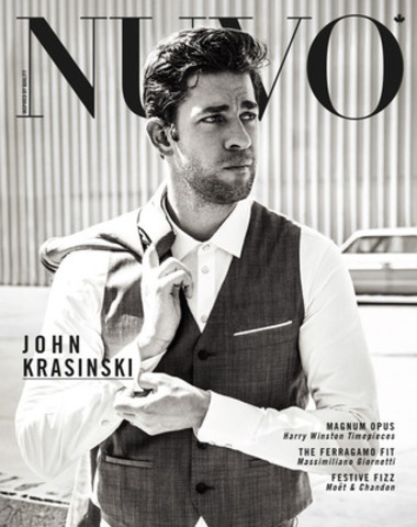 "Actor John Krasinksi, best known for his role as Jim Halpert on the television series The Office, is the cover feature for the winter 2012 issue of NUVO, on newsstands November 19. The actor discusses his upcoming film Promised Land, with Matt Damon, and describes acting as ""the craziest temp agency out there."" www.nuvomagazine.com. (CNW Group/NUVO Magazine Ltd.)"