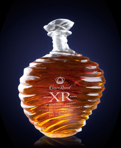 Crown Royal commissioned Canadian artist to create an exquisite bottle for Prince William and Duchess Catherine to commemorate their first Canadian Royal tour; a fitting gift as Crown Royal was created in 1939 to honour the Canadian tour of Prince William's great grandparents Queen Elizabeth and King George VI. (CNW Group/Evangeline PR) (CNW Group/Crown Royal)
