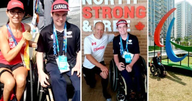 "Air Canada Foundation and Holland Bloorview Kids Rehabilitation Hospital give to a young athlete the ""trip of a lifetime"" to Rio Paralympics (CNW Group/Air Canada Foundation)"