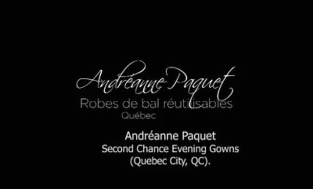 Video: Andréanne Paquet, Second Chance Evening Gowns