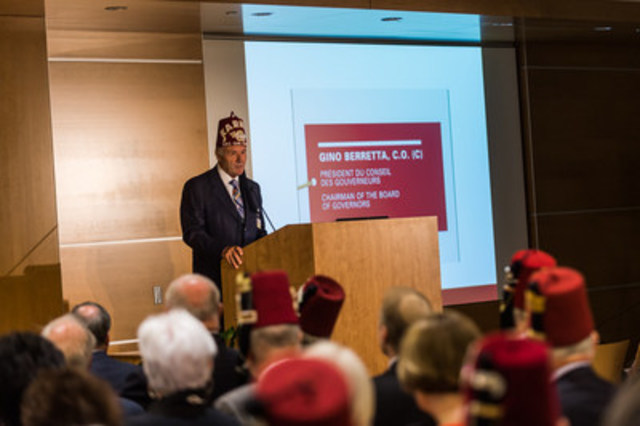 Gino Berretta, C.O. (C) Chairman of the Board of Governors (CNW Group/Shriners Hospitals For Children)