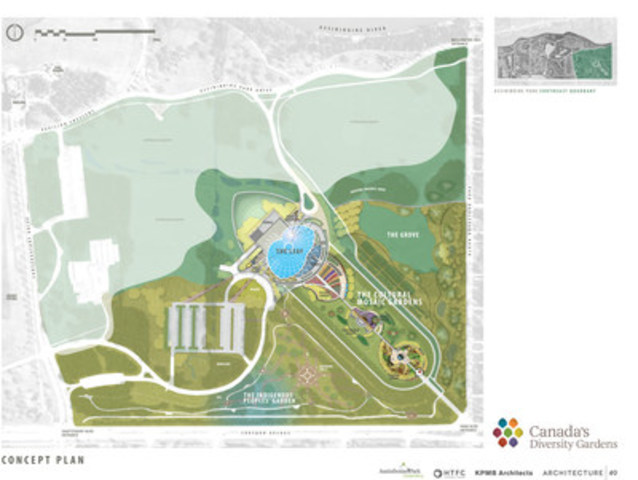 Future site plan of Canada's Diversity Gardens at Assiniboine Park located in Winnipeg, Manitoba. ...