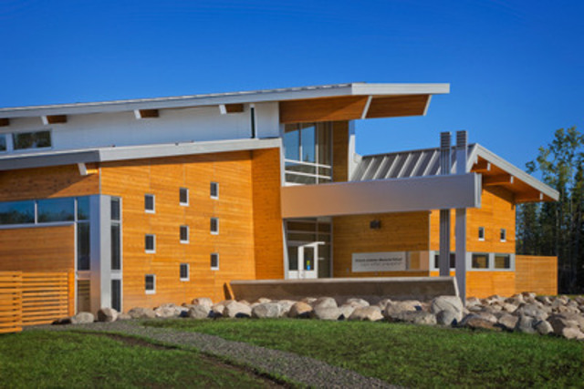 Northern Ontario Excellence Award: Victoria Linklater Memorial School, North Spirit Lake, ON; Architect:  Architecture 49; Engineer:  WSP Group (CNW Group/Ontario Wood WORKS!)