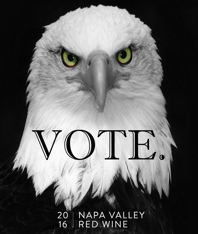 VOTE. Napa Valley Red Wine 2016 label.