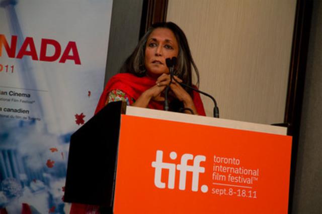 Deepa Mehta, co-presenter (CNW Group/TELEFILM CANADA)