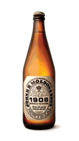 John H.R Molson and Bros. 1908 Historic Pale Ale is now available in 625ml and 341ml bottles wherever beer is sold. (CNW Group/Molson Coors Canada)
