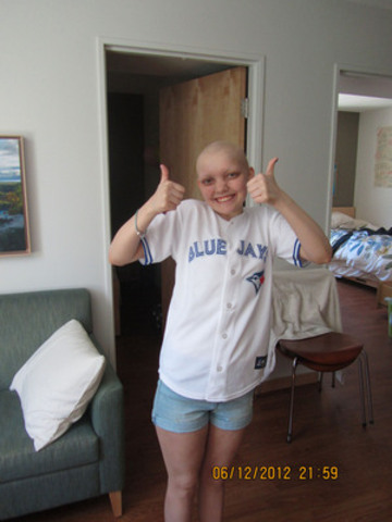 Kelsey Panton, the 20,000th child to receive a wish from Children's Wish, will throw the ceremonial first pitch at Saturday's Blue Jays game (CNW Group/The Children's Wish Foundation of Canada)