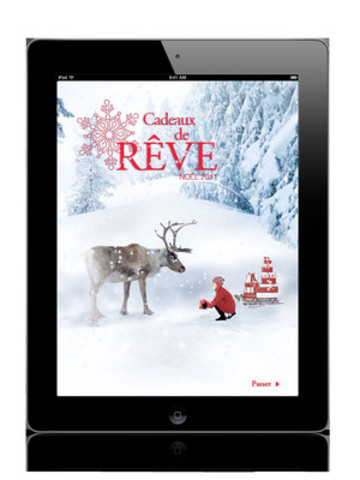 Écran d'ouveture de l'application du catalogue Cadeaux de Rêve. (Groupe CNW/Sears Canada Inc.)