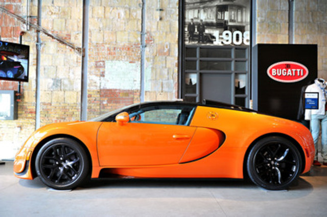Shown for the first time in Canada, Grand Touring Automobiles showcases the 2013 Bugatti Veyron 16.4 Grand Sport Vitesse, which recently set a world record as the world's fastest convertible. (CNW Group/Grand Touring Automobiles)