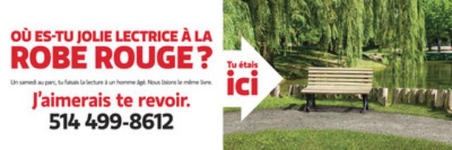Cette affiche publicitaire du Lotto Max, déployée depuis le 4 mars dernier dans les régions de Montréal, de Québec, de Sherbrooke, de Trois-Rivières et de Gatineau, a suscité la curiosité du grand public. Loto-Québec a reçu plus de 4 000 appels au numéro de téléphone qui y est inscrit. (Groupe CNW/Loto-Québec)