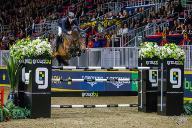 2016 Olympic champions Nick Skelton and Big Star placed second in the $75,000 GroupBy 'Big Ben' Challenge at the CSI4*-W Royal Horse Show on Saturday, November 12, in Toronto, ON. Photo by Ben Radvanyi Photography (CNW Group/Royal Agricultural Winter Fair)