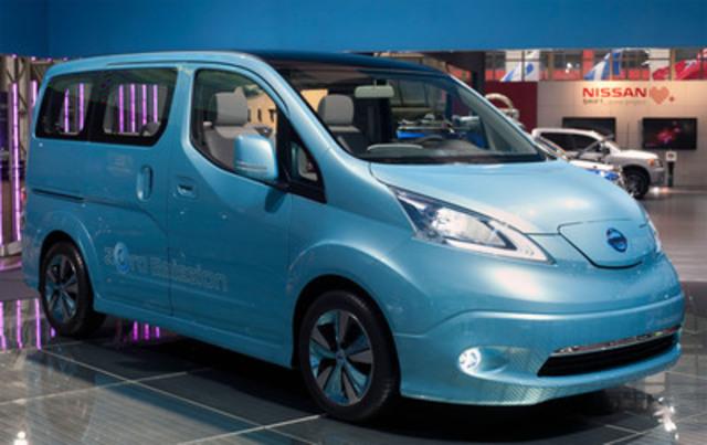 Le prototype de l'e-NV200 entièrement électrique de Nissan a fait ses débuts canadiens aujourd'hui au Salon international de l'auto du Canada. (Groupe CNW/Nissan Canada Inc.)