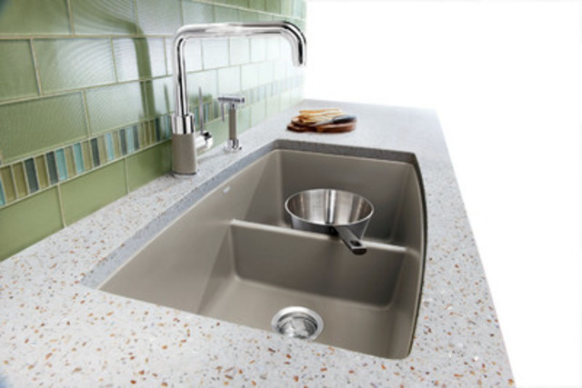 The New BLANCO Performa Silgranit Sink Features A Low Divide Between Sink  Bowls And Comes In ...