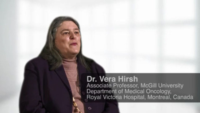 Video: Dr. Vera Hirsh, Associate Professor, McGill University, Department of Medical Oncology, Royal Victoria Hospital, Montreal, Canada talks about a new era of personalized medicine in lung cancer.