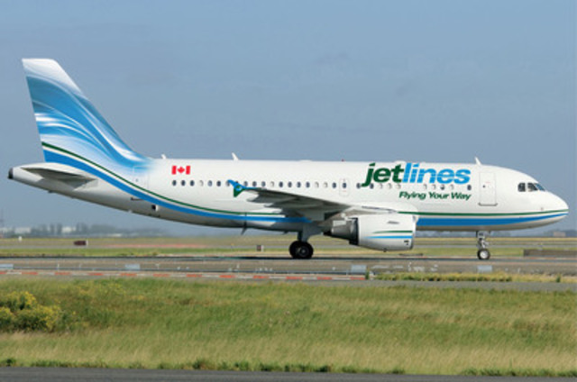 Jetlines logo and colours on airplane (CNW Group/Inovent Capital Inc.)