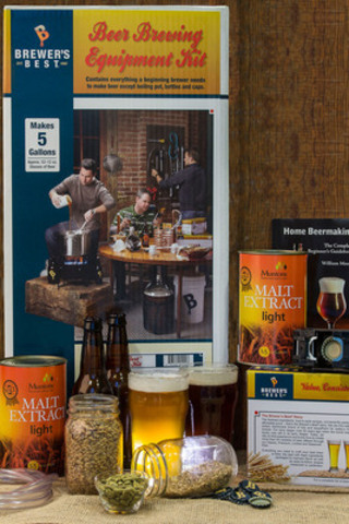 Craft a great tasting beer you'll love this May 2-4 weekend. Brewer's Best craft beer kit is now available in Canada and provides a true craft beer making experience at-home. (CNW Group/Brewer's Best)