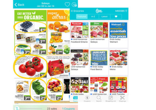 Save money on your weekly groceries with Flipp (CNW Group/Flipp Corporation)