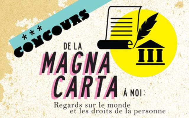 Concours Magna Carta du Barreau du Québec. (Groupe CNW/Barreau du Québec)