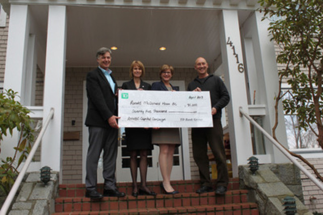 Td donates 75 000 to ronald mcdonald house bc yukon to for Build a house for 75000