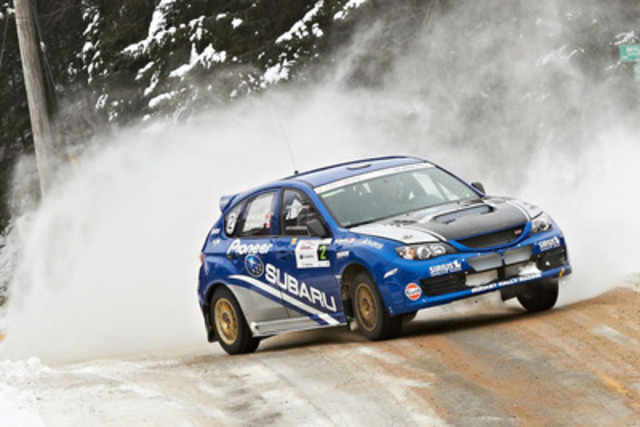 Subaru Rally Team Canada at 2013 Rally of the Tall Pines. Photo credit: Mat Janiak. (CNW Group/Subaru Canada ...
