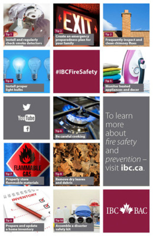 ?IBC Top 10: Tips for Preventing House Fires and Saving Lives? (CNW Group/Insurance Bureau of Canada)