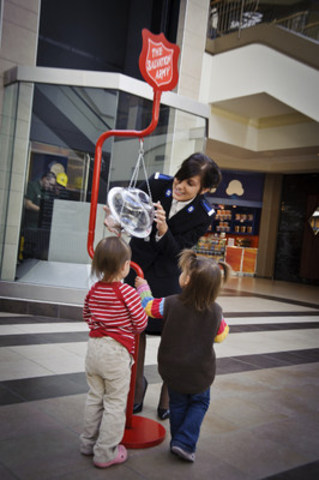 With a fundraising goal of $21 million, The Salvation Army''s Christmas Kettle Campaign has received over $13 million in donations so far this holiday season (CNW Group/The Salvation Army)