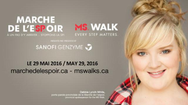 Debbie Lynch-White, porte-parole provinciale de la Marche de l'espoir 2016 (Groupe CNW/Société canadienne de la sclérose en plaques)