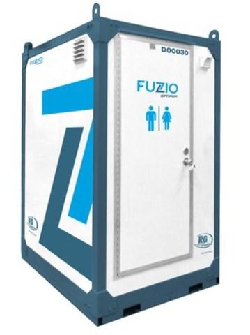 Voici la nouvelle toilette FUZIO Optimum. Cette toilette mobile est 100% autonome et est utilisable en ete comme en hiver. (Groupe CNW/RG Solution inc.)